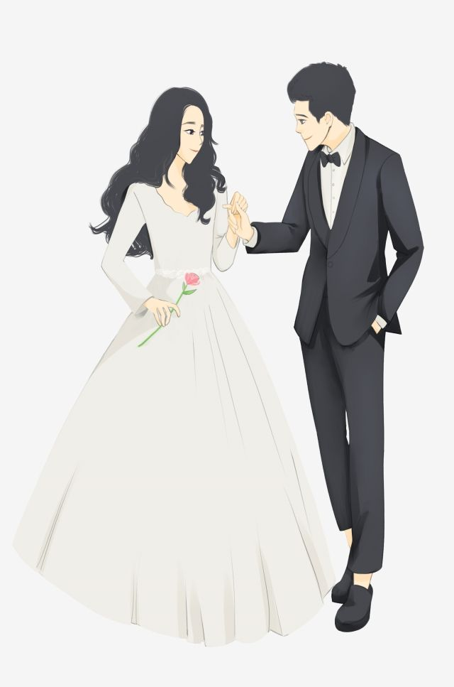 مرسومة باليد حفل زواج جديد العريس عروس العروس حفل زواج تزوج Png وملف Psd للتحميل مجانا Bride Marriage Ceremony Bride Groom
