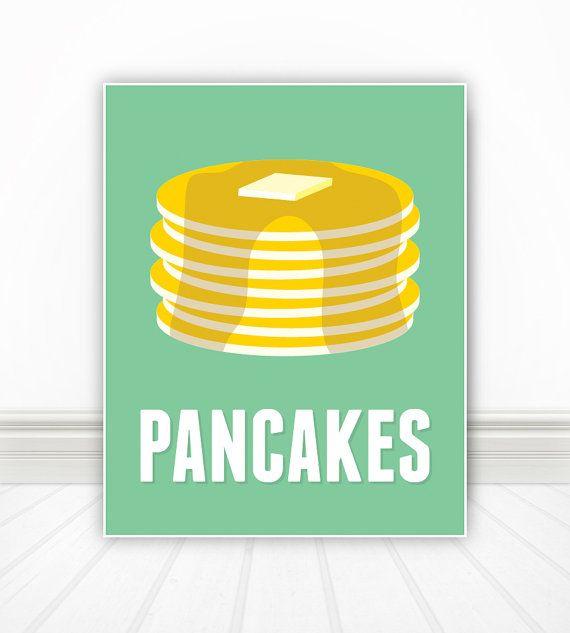 Pancakes by BentonParkPrints on Etsy, $12.00