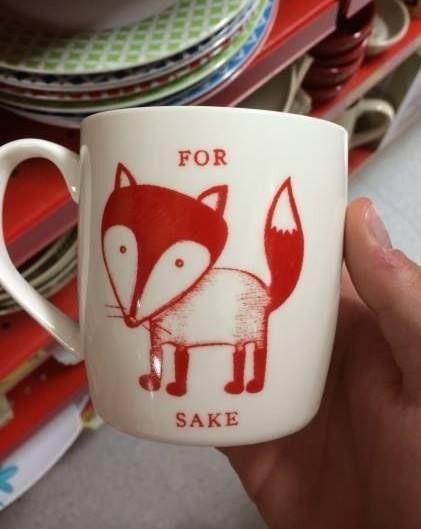 For fox sake funny mug