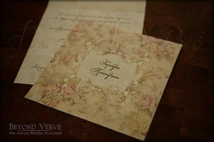 Romantic wedding invitation - Vintage wedding stationery - Beyond Verve