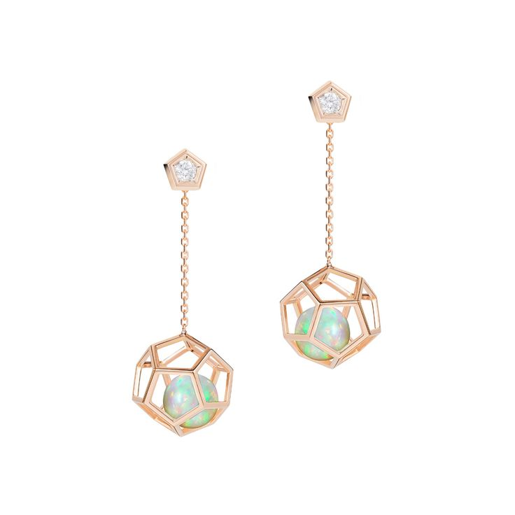 """Rock It!"" Opal Drop Earrings - Plukka - Shop Fine Jewelry Online #opalsaustralia"