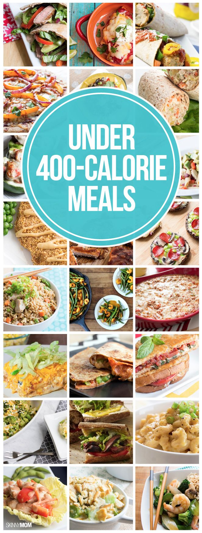 RECIPES UNDER 400 CALORIES: 40 dinners your family will LOVE! Which recipe are you most excited to try? #maincourse #recipes #dinner #easy #recipe