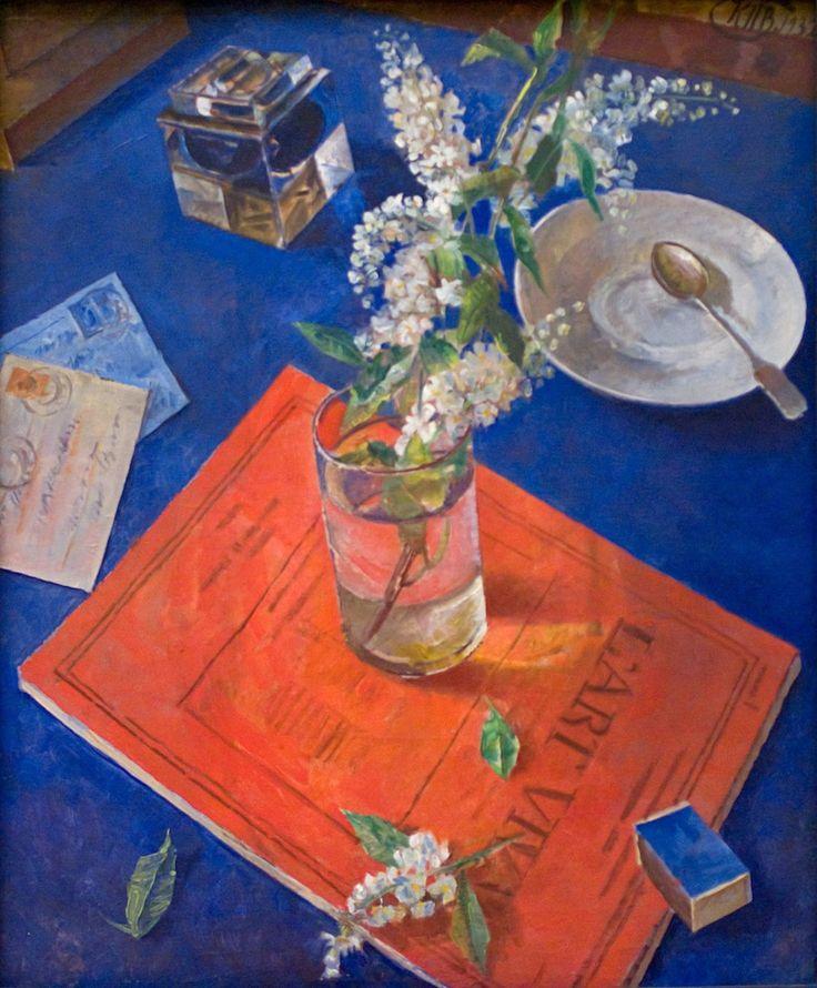 Kuzma Petrov-Vodkin Bird Cherry in a Glass, 1932