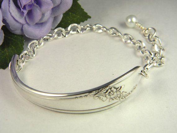 Spoon Bracelet Silverware Jewelry Spoon by SilverSpoonCreations, $23.00