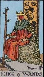 Rey de bastos, palo de bastos, tarot, curso de tarot, aprende tarot.