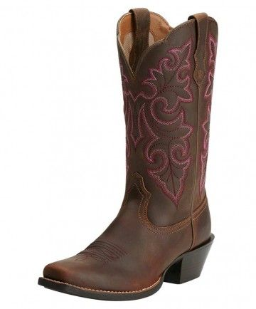 Ariat Woman's Round Up Square Toe Cowboy Boot