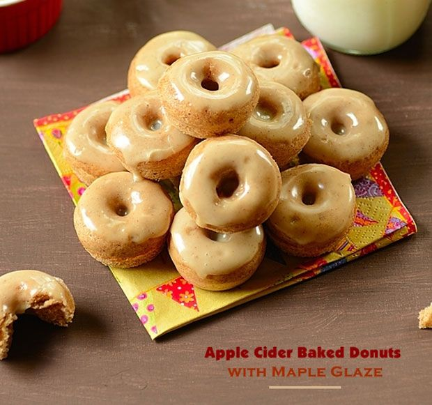 Apple Cider Donuts with Maple Glaze Recipe - RecipeChart.com #Dessert ...