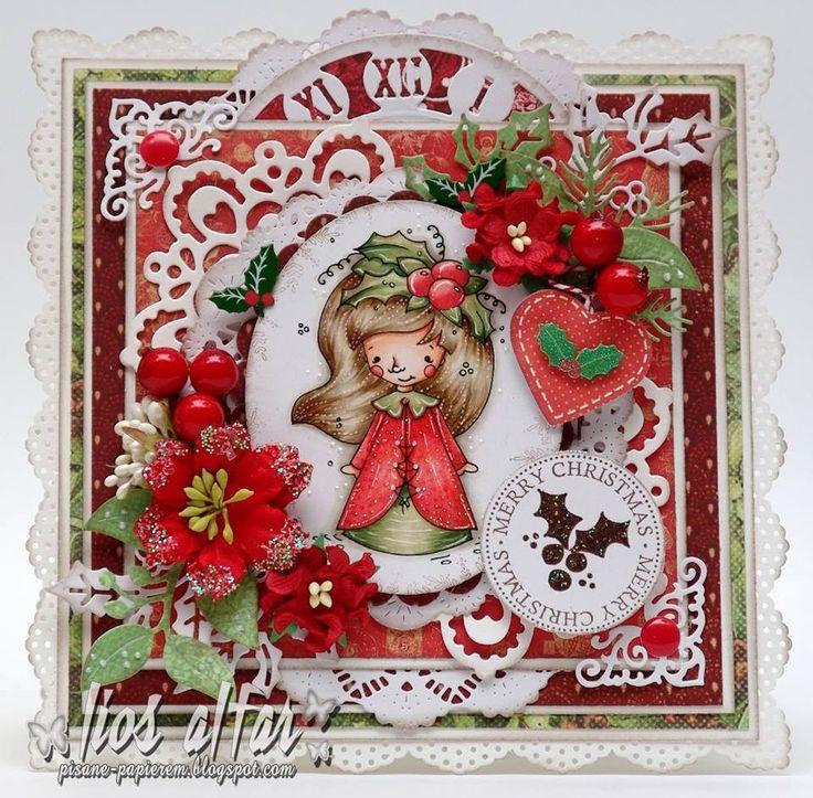 """Margot Fancy Christmas"" colouring by Malgorzata - https://www.etsy.com/listing/210368181/shaky-a-margot-fancy-christmas-digital?ref=listing-shop-header-0"