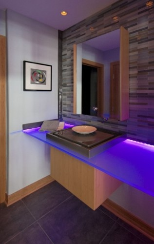 15 best led light strips images on pinterest lighting ideas color changing rgb led strip lights yes please bathroom installation shows potential of aloadofball Image collections