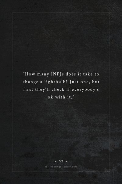 Oh goodness, I had to laugh! :) I didn't realize this was an INFJ thing!