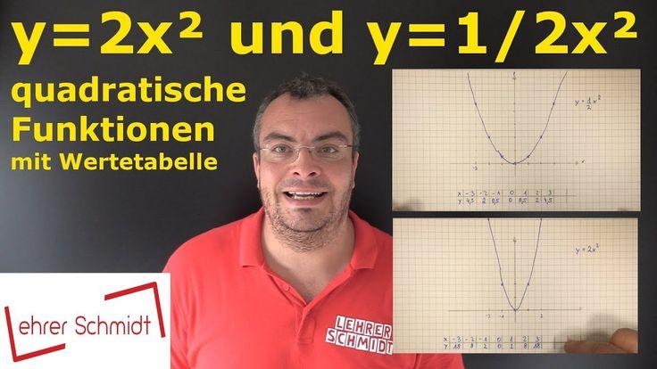 y=2x² oder y=1/2x² - quadratische Gleichungen - Mathematik, einfach erklärt - Lehrerschmidt