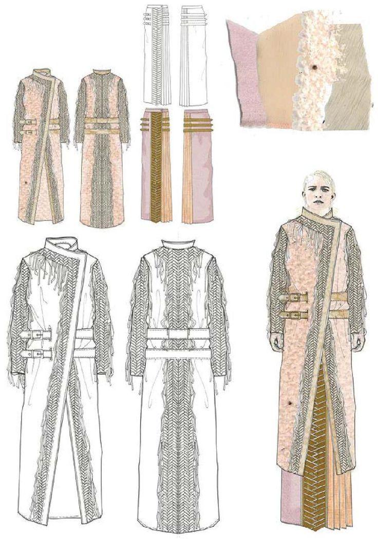 Fashion Sketchbook - coat designs; fashion illustrations; fashion portfolio // Emily Marsh