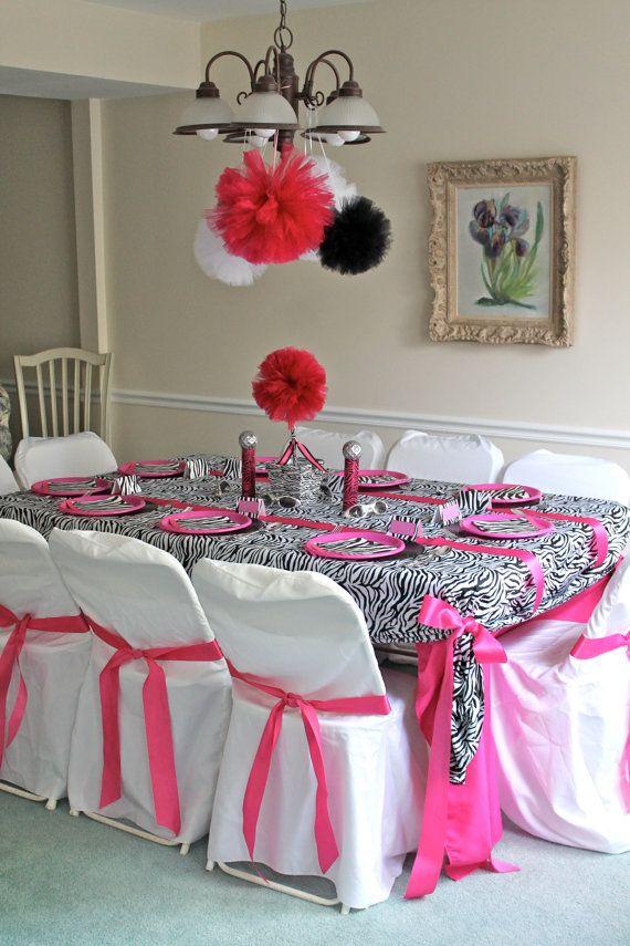 Hot Pink And Black Zebra Centerpieces Nemetasaufgegabeltinfo