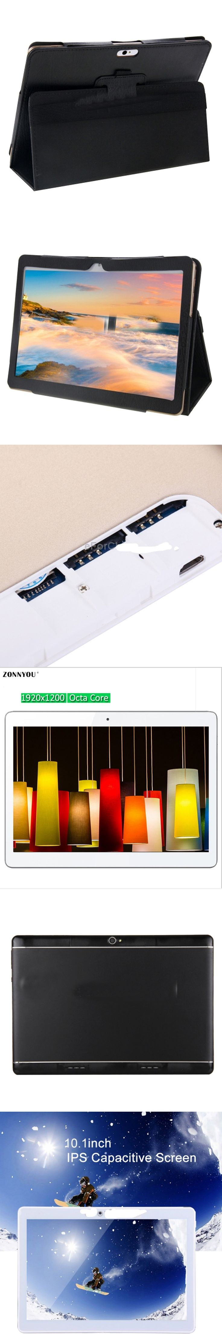 10.1 inch Tablet Original Design 4G 3G Phone Call Android 6.0 4 GB di Ram; 32 GB Rom Ocat Core IPS Tablet WiFi Android Tablet