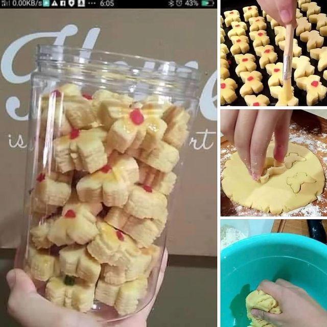 Resepi Sedap Di Instagram Biskut Butter Menghasilkan 110 Keping Biskut 1 Ketul Butter 350 Gm Tepung Gandum 100 Gm Gula Kue Kering Resep Kue