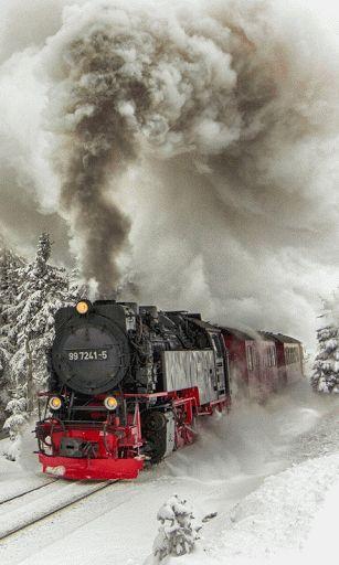 """Gif ►""""train vapeur""""  rétrogirl"""