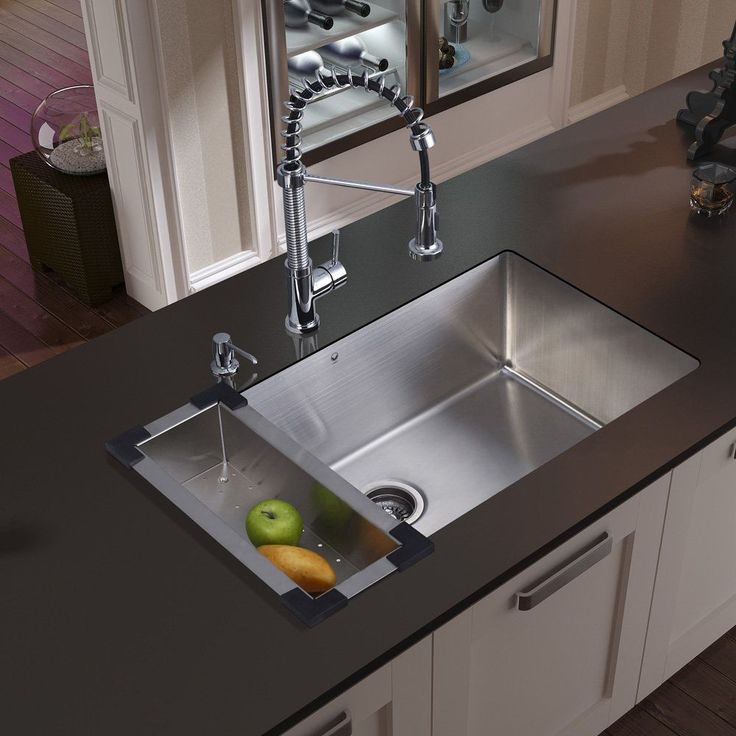 30 Inch Undermount Single Bowl 16 Gauge Stainless Steel Kitchen Sink With  Edison Chrome Faucet,