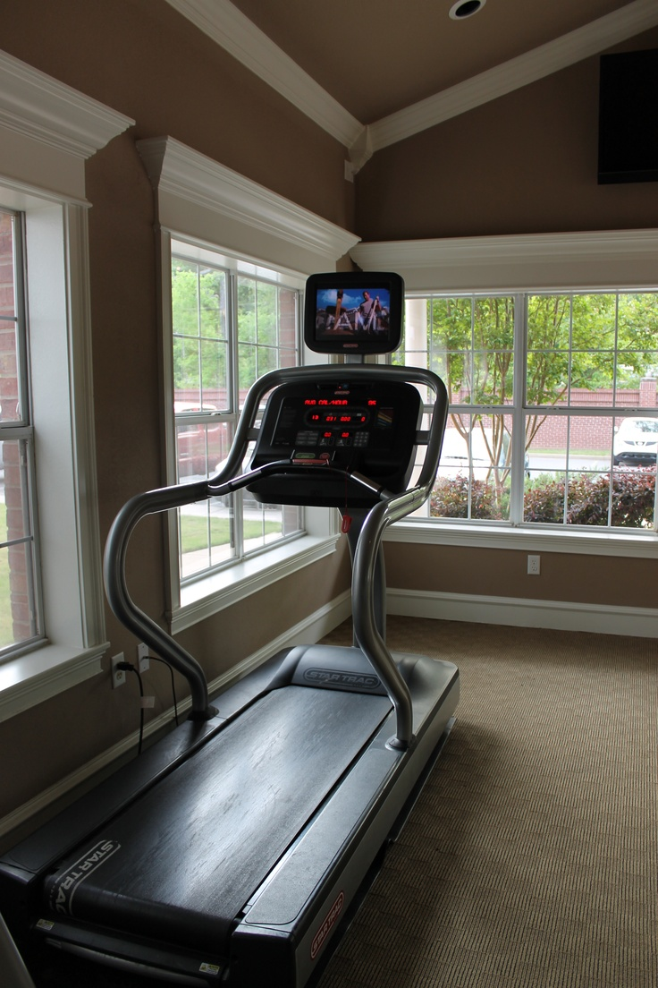 It's too hot to run outside .. why not try our treadmill with built-in iPhone/iPod docking stations in our beautiful fitness center!