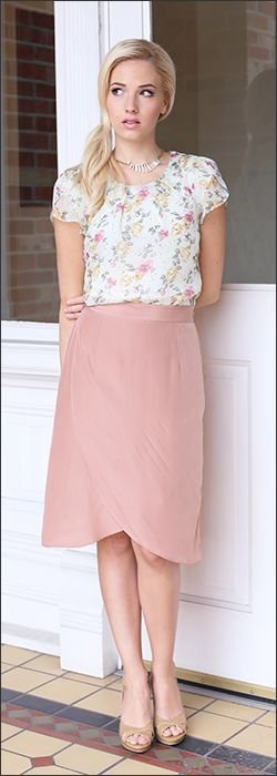 Lots of Youthful essence in the top. Skirt is Classic and Romantic. I'd want to find a way to keep it looking relaxed and not too preppy.