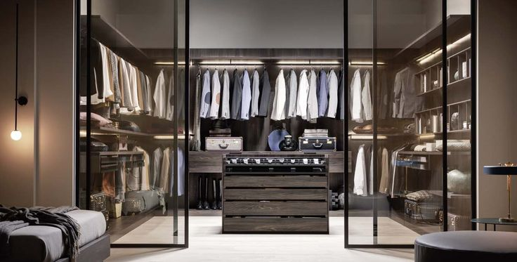 Aristotele, Walk-in closets, Products | Rationality defines forms and functions. #wardrobe by #Novamobili #interior #design #aboutWARDROBE #walkincloset #homedecor