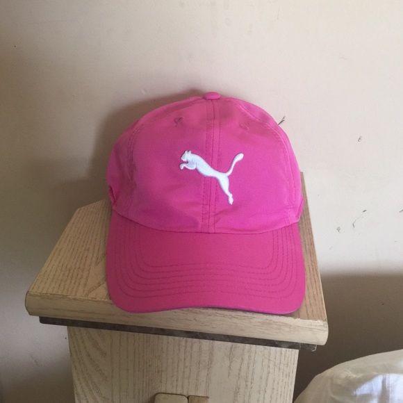 Pink puma hat It's a pink puma hat that I never worn before it's a one size fits all Puma Accessories Hats