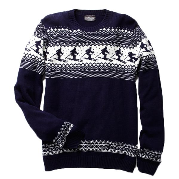 Ok ok, you can tone it down a bit, if you really want. This men's Christmas jumper is totally acceptable.