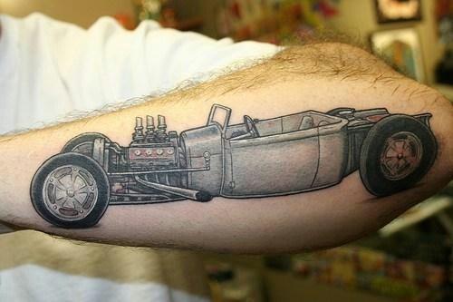 Classic Car Tattoo Tattoos Pinterest Car Tattoos Tattoo And