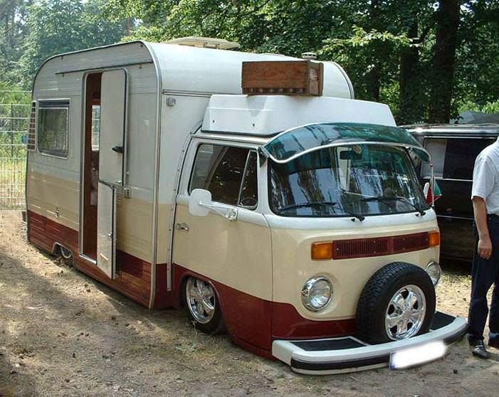 unusual tiny rvs. VW Camper caravan combined  can t quite make their mind up 148 best New and Strange RV Finds images on Pinterest Motorhome