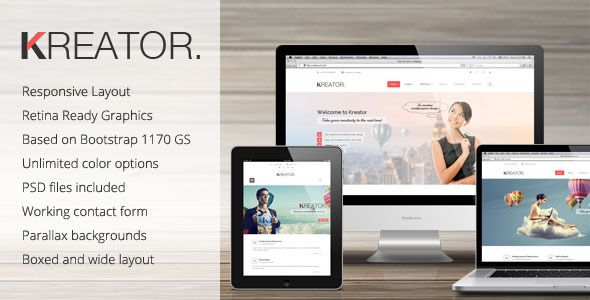 Kreator Ultimate HTML Template Simple, effective business template
