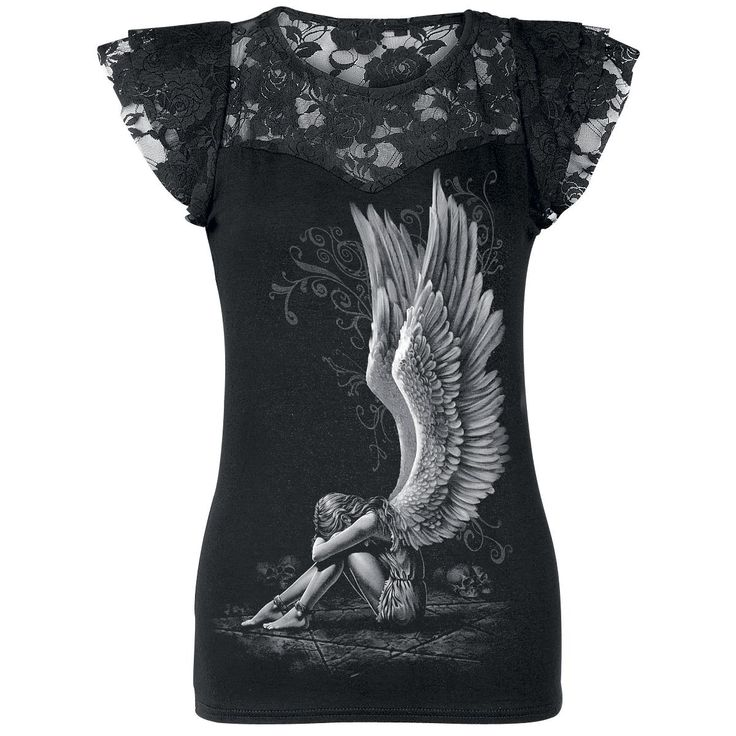 Enslaved Angel - Girls shirt by Spiral - Article Number: 177627 - from 26.99 € - EMP Merchandising ::: The Heavy Metal Mailorder ::: Merchandise Shirts and More