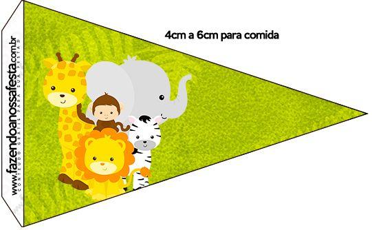 Bandeirinha Sanduiche 3 Safari