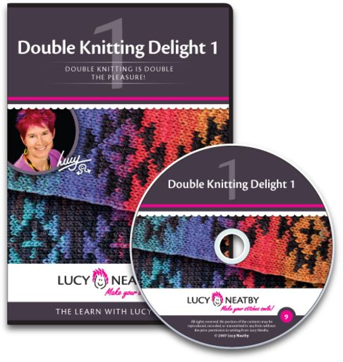 Double Knitting Delight 1 is the perfect DVD to get you started!  Learn all of the double-knitting basics here, then join my Double-Knitting Club once you're hooked!