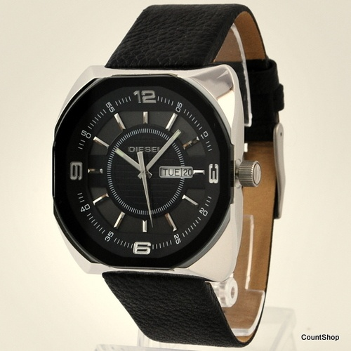 Diesel Leather DZ1117 Black Dial Watch