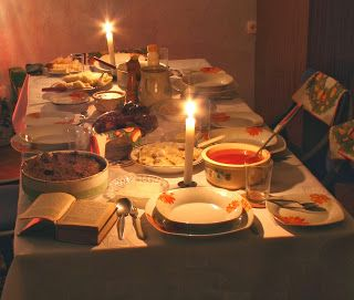 Orthodox Christian Traditions, Customs & Practices: Russian Christmas Eve Supper (Holy Supper)