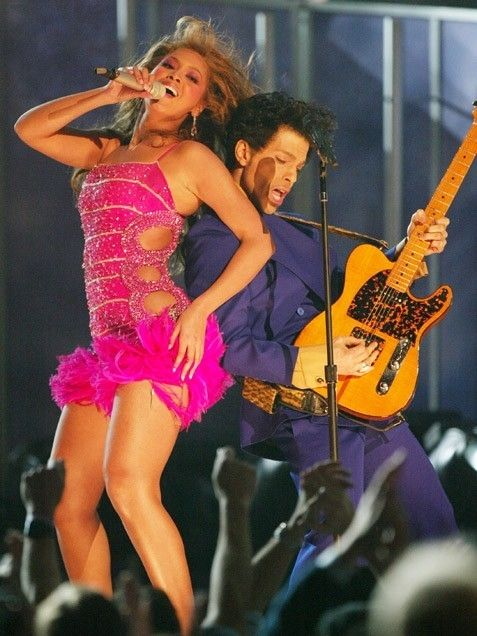 Prince and Beyoncé performing at the Grammy Awards, February 8, 2004