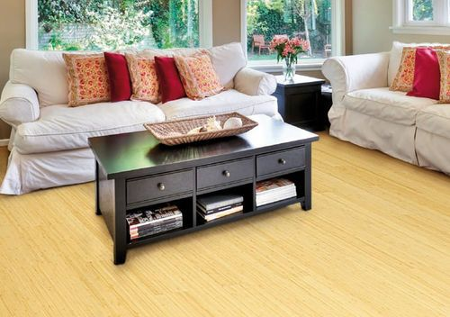 Bamboo solid wood flooring vertical laminated natural for Light solid wood flooring