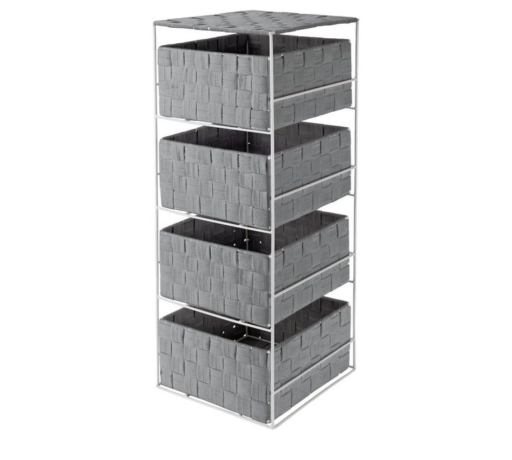 Buy HOME 4 Drawer Storage Unit - Dove Grey at Argos.co.uk, visit Argos.co.uk to shop online for Bathroom shelves and storage units, Bathroom furniture, Home and garden