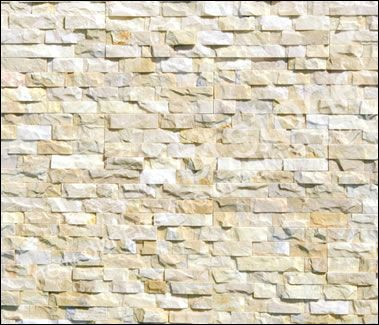 Ivory Quartz Cladding Stacked Stone Panels Stacked