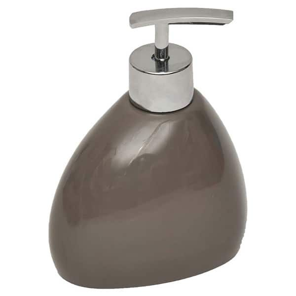 Elegance Bathroom Vanity Soap And Lotion Dispenser Color Brown