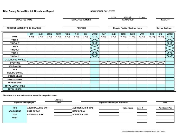 Employee Attendance Sheet Template Excel  Office Attendance Sheet Excel Free Download