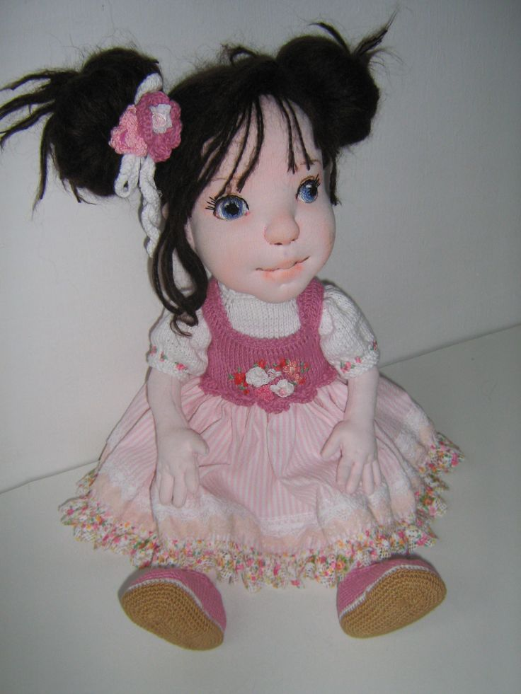 "18 inch""soft sculptured cloth doll"