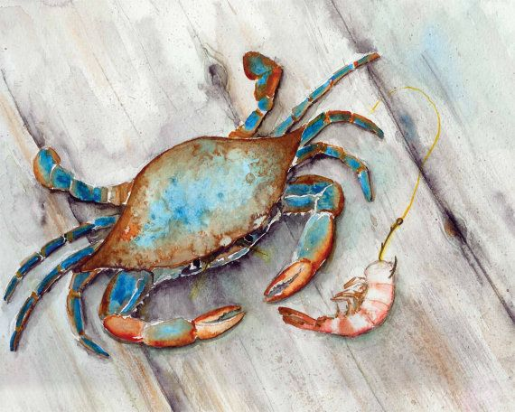 Hey, I found this really awesome Etsy listing at https://www.etsy.com/listing/181995548/blue-crab-with-shrimp-seafood-restaurant