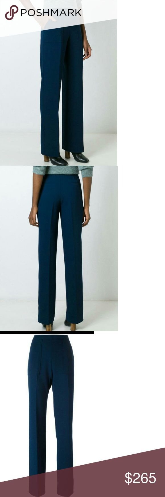 Tory Burch Women's Blue Trousers The Vanner trousers from Tory Burch are a perfectly tailored, classically elegant style that can elevate any workaday look. By: Tory Burch. Pattern: plain. Material composition: 67% cotton,28% lyocell,5% elastane. 67% cotton,28% lyocell,5% elastane. Color: blue Tory Burch Pants Trousers