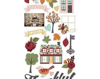 Chipboard stickers, Vintage Blessings, Fall Collection, Fall planner, scrapbook, Thanksgiving stickers, embellishment, decoration