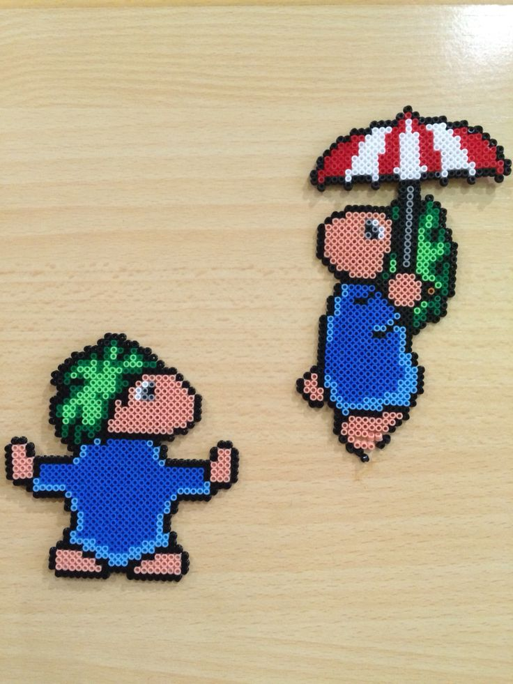 Perler Hama Beads. Lemmings