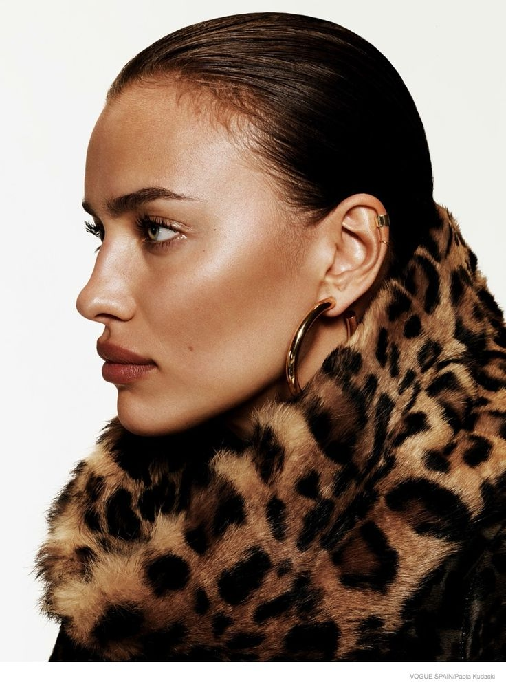 Irina Shayk Wears Animal Print for Vogue Spain Shoot by Paola Kudacki