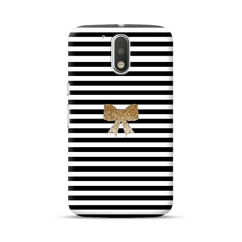 Check out this amazing Moto G4 Plus/G4 Glitter Bowknot Black And White Strips Case!