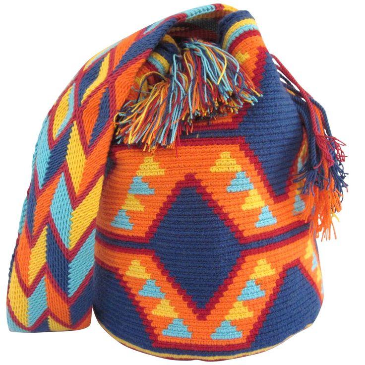 Mochila Bag. $90.00 FREE SHIPPING   Handmade and Fair Trade Wayuu Mochila Bags – LOMBIA & CO.   www.LombiaAndCo.com