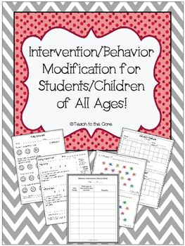 """Are you struggling with student behavior in your classroom? HELP IS HERE!!Some students need a modification to their behavior plan and this is the PERFECT file for you! Download the preview so you can view the """"How to Use"""" page.  You will receive specific instructions on how to use each piece to the puzzle in figuring out what works best for your student so that they can have SUCCESS in your classroom!"""