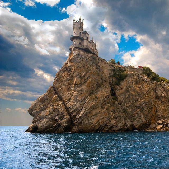 swallows nest castle, yalta, ukraine